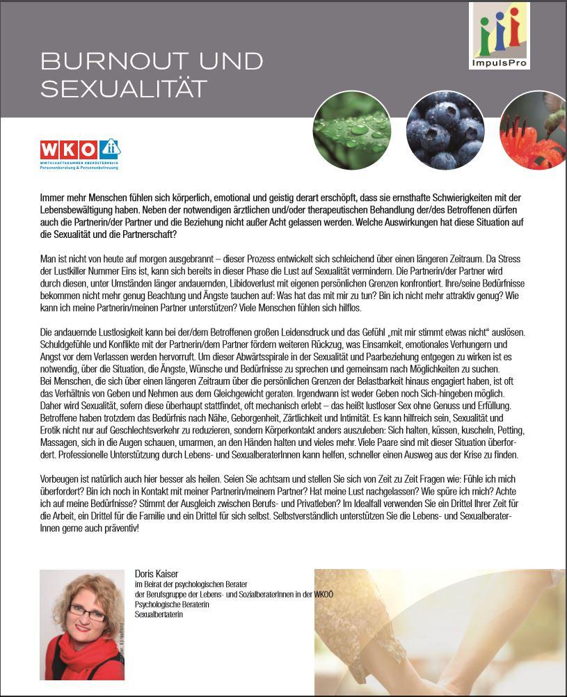 burnout und sexualität
